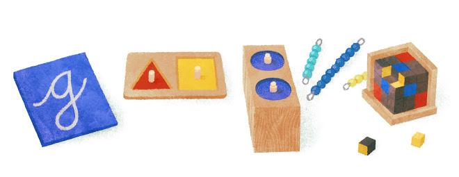 le 31 août 2012, Google a célébré le 142e anniversaire de la naissance de Maria Montessori